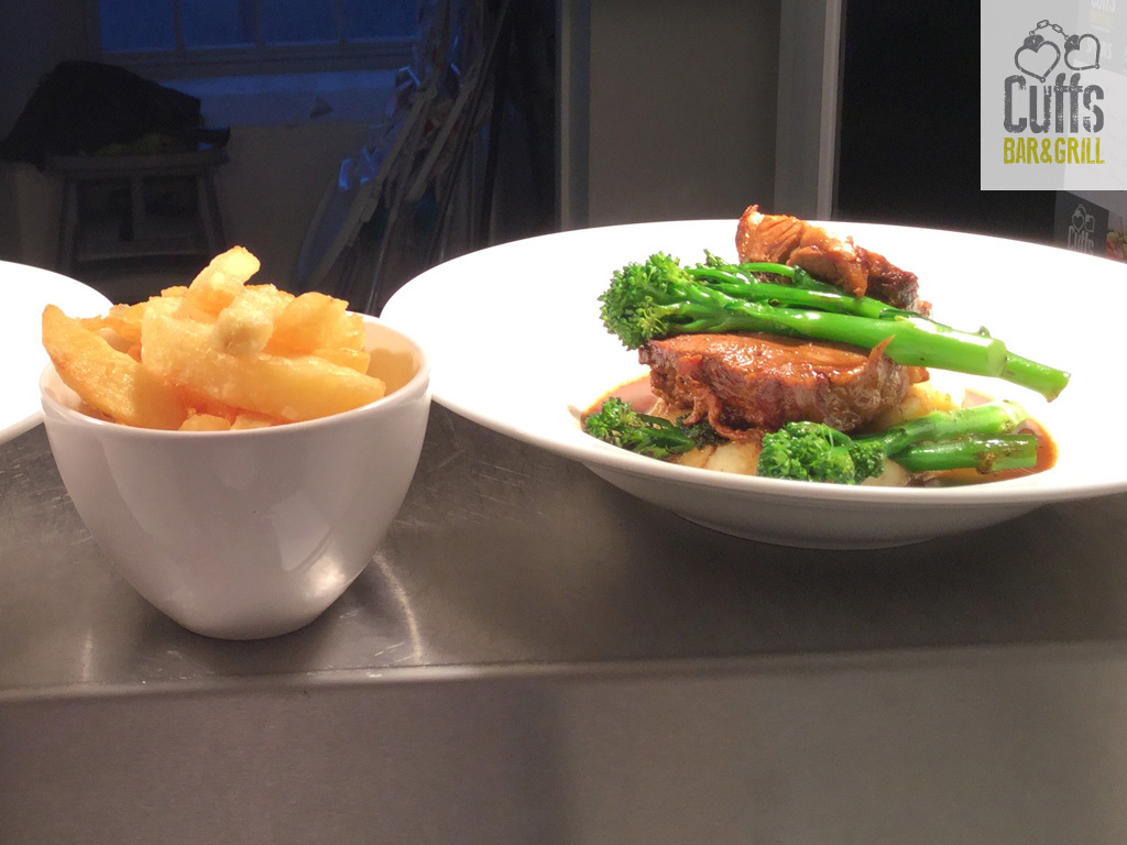 Lamb Rump with Chips
