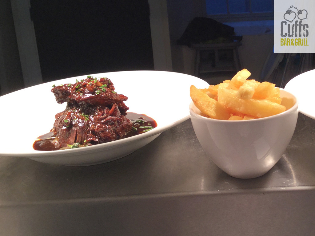 Slow Cooked Beef in Duck Fat with Chips