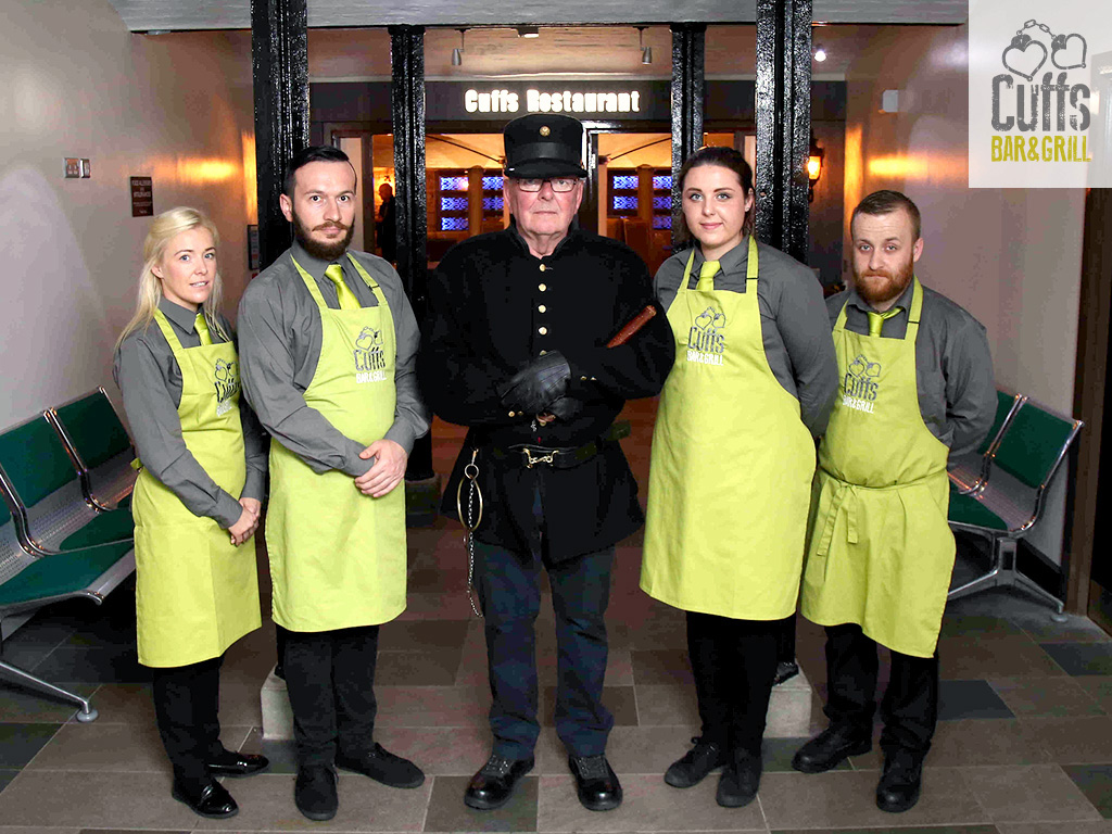 Waiting Staff Job Opportunities at Cuffs Bar & Grill at the Crumlin Road Gaol